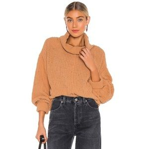 NWT Free People Be Yours Camel Pullover Sweater